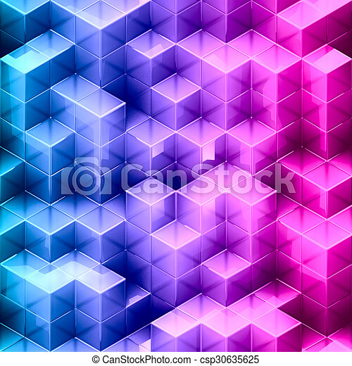 Abstract gradient cube background  - csp30635625