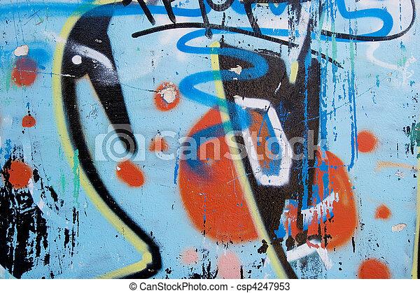 Abstract graffiti background  - csp4247953