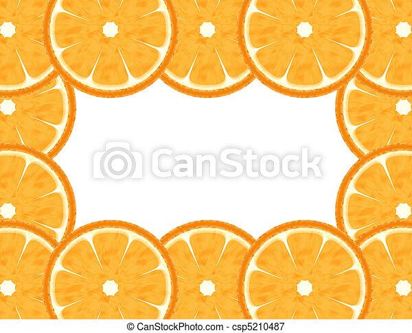 Abstract grapefruit border - csp5210487