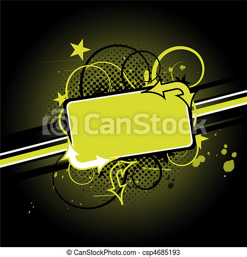 abstract green background design - csp4685193