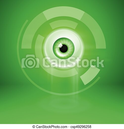 Abstract green background with eye - csp49296258