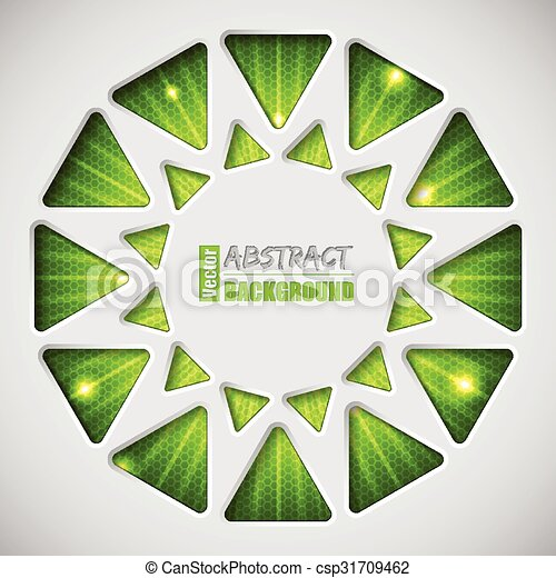 Abstract green background with text container - csp31709462