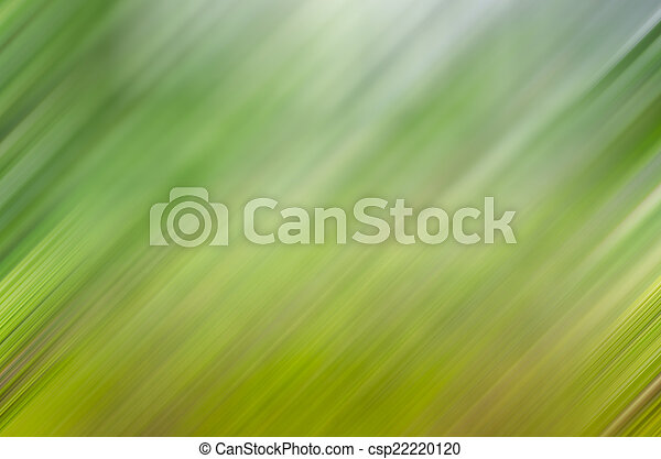 Abstract green blurred background with movement - csp22220120