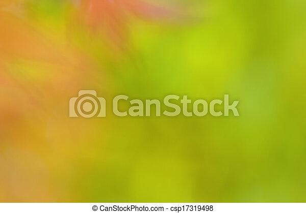 Abstract green bokeh background wallpaper - csp17319498