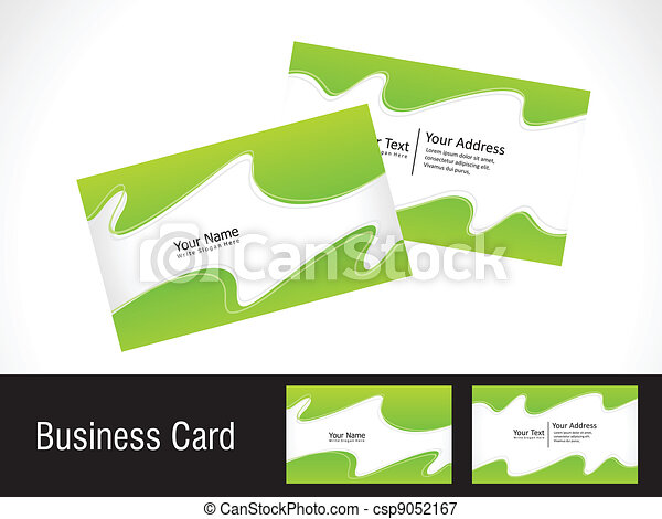 Abstract green business card vector illustration vectors abstract green business card csp9052167 reheart Gallery