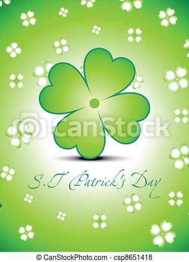 abstract green clover - csp8651418