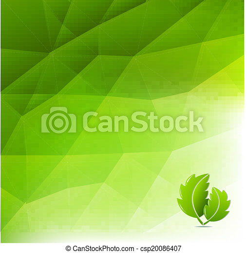 Abstract Green Eco Background - csp20086407