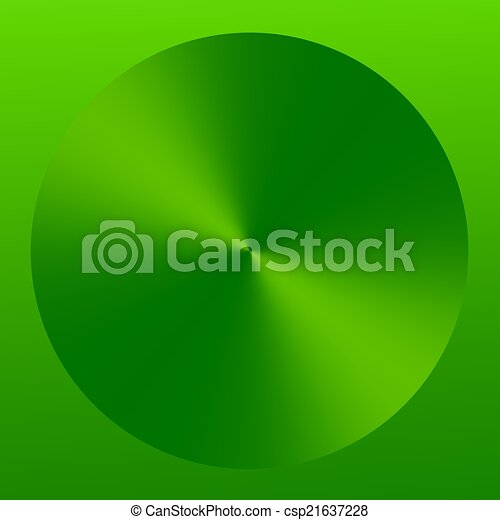 Abstract Green Elegant Technology Button Icon - csp21637228