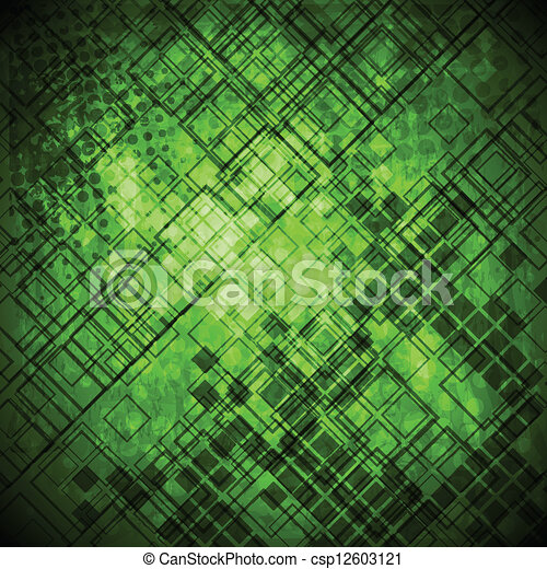 Abstract green grunge technical background - csp12603121