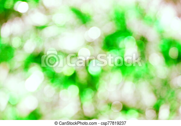Abstract Green light bokeh background - csp77819237