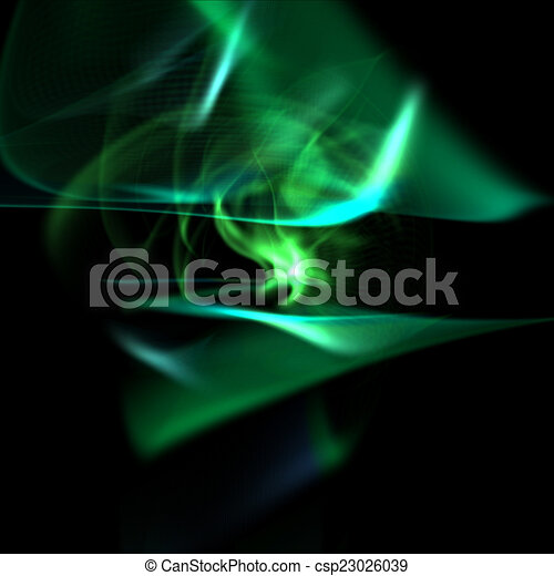Abstract green light waves - csp23026039