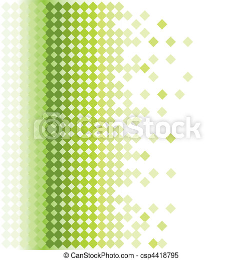 abstract green mosaic background - csp4418795