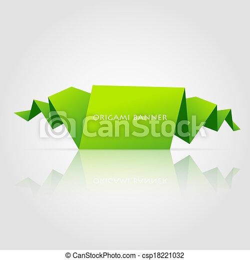 Abstract green origami speech bubble - csp18221032