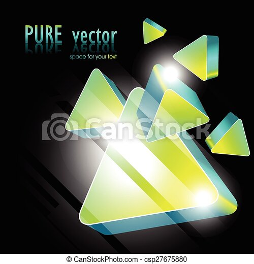 abstract green stylish shape design - csp27675880