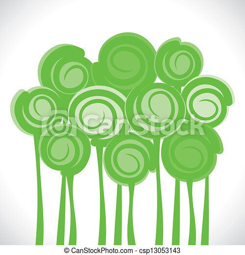abstract green tree - csp13053143