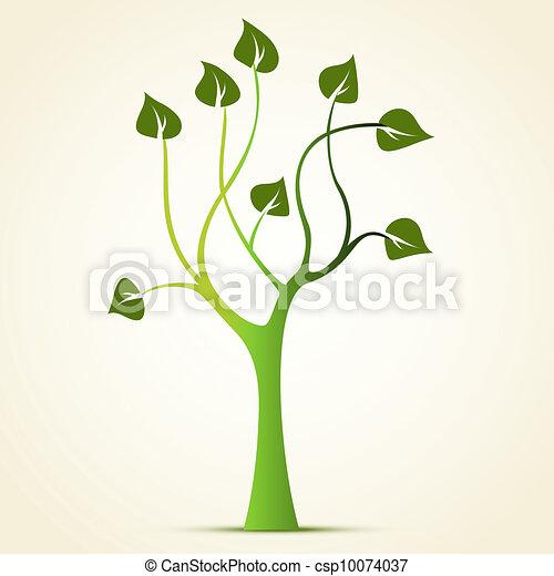 Abstract green tree - csp10074037