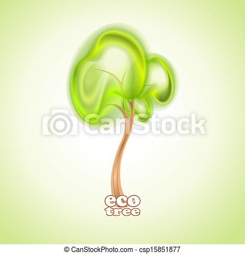 Abstract green tree - csp15851877