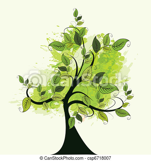 abstract green tree - csp6718007