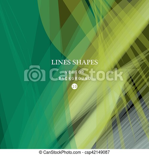 Abstract Green Vector Background Green Transparent Wave Lines S