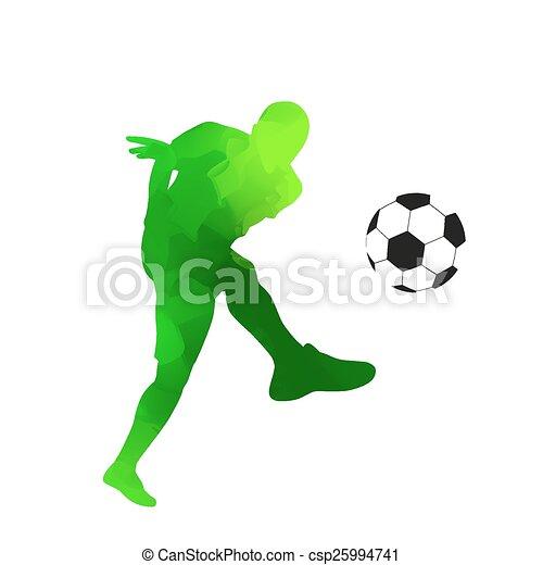 Abstract green vector soccer player - csp25994741