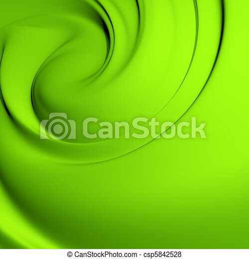 Abstract green whirlpool. Clean, detailed render. Backgrounds series. - csp5842528