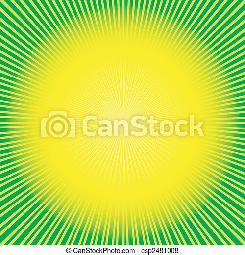 Abstract green-yellow background (vector) - csp2481008