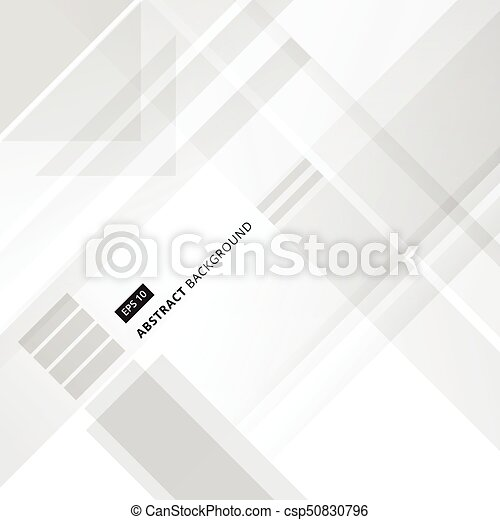 562df35e4ffd Abstract grey and white technology geometric shape corporate design  background, Vector - csp50830796
