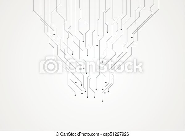 Abstract grey tech circuit board lines chip background.... vector ...