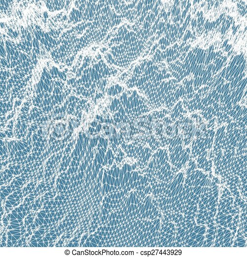 Abstract grid background. Water surface. Vector illustration. - csp27443929