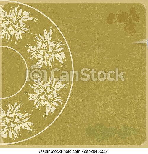 Abstract grunge background with a circular geometric pattern - csp20455551