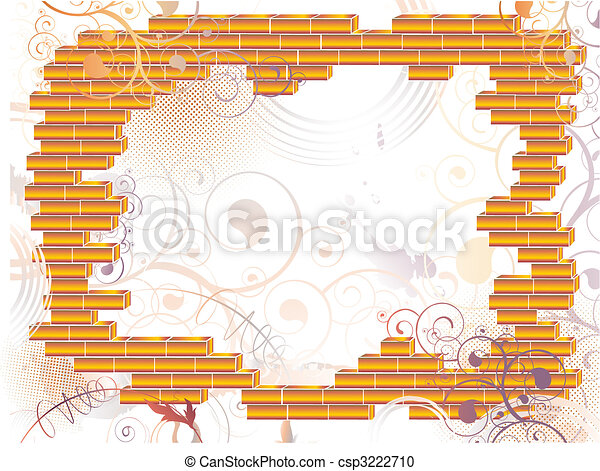 abstract grunge brick frame - csp3222710