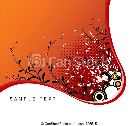 Abstract grunge floral background  - csp4796515