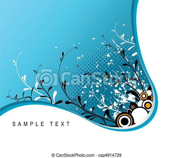 Abstract grunge floral background  - csp4914729