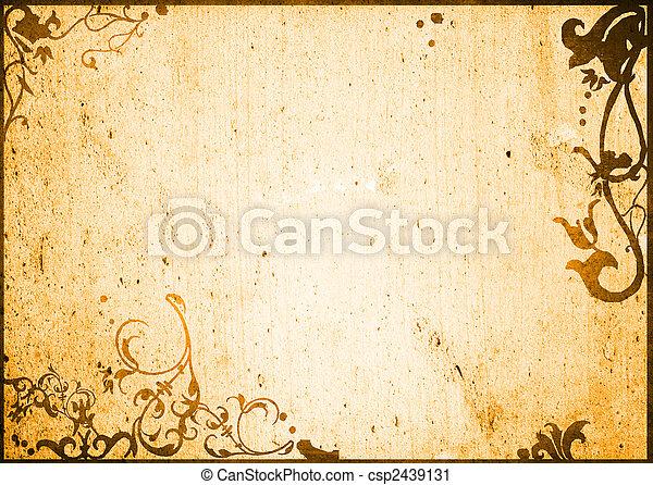 abstract, grunge, frame, achtergrond - csp2439131