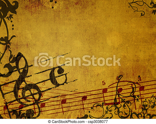 Abstract grunge melody textures and backgrounds - csp3038077