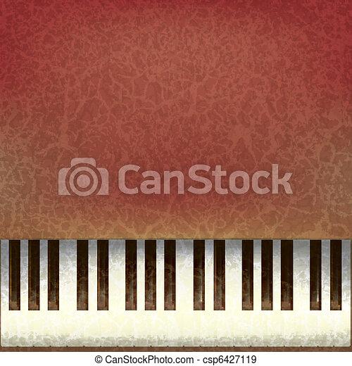 abstract grunge music background - csp6427119