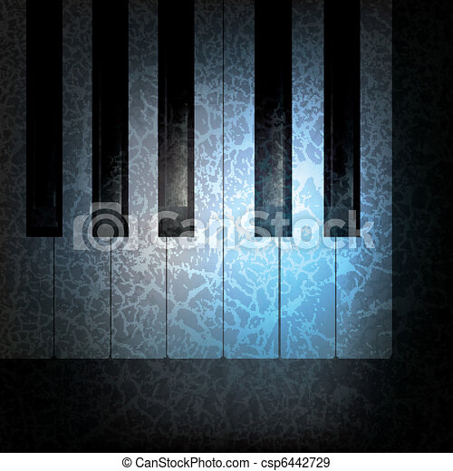 abstract grunge music background - csp6442729