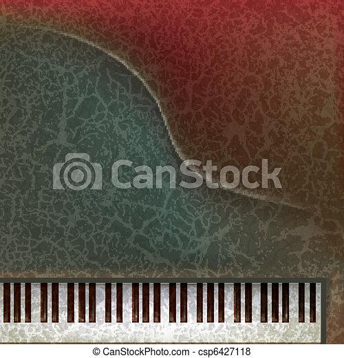 abstract grunge music background - csp6427118