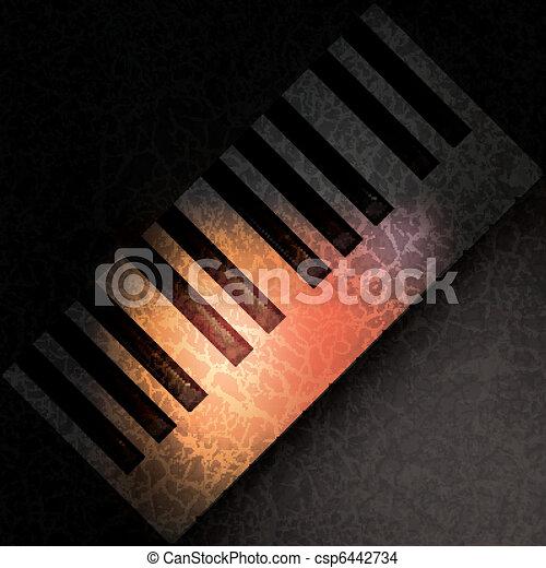 abstract grunge music background - csp6442734