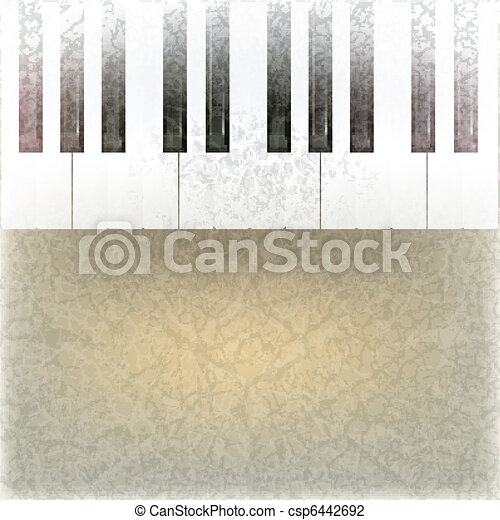 abstract grunge music background - csp6442692