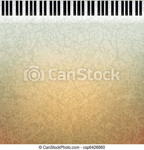 abstract grunge music background - csp6426860
