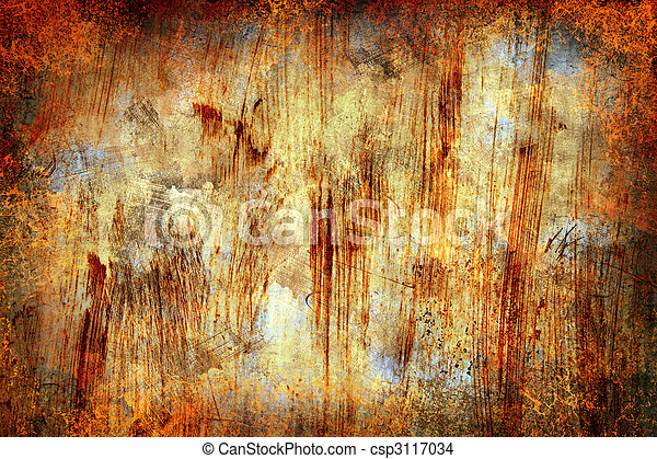 abstract grunge rusty metal background - csp3117034
