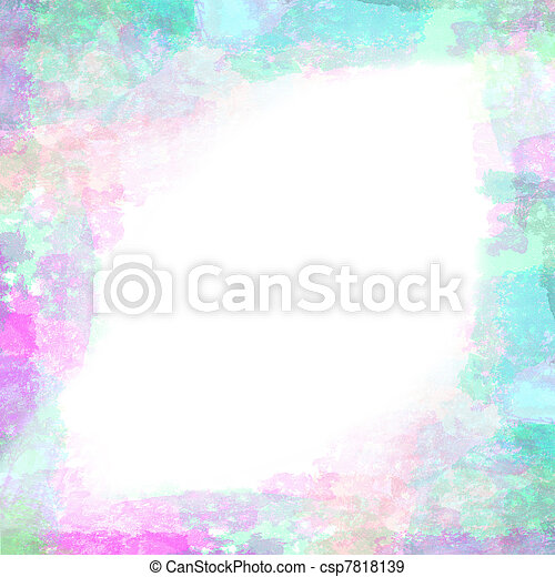 Abstract grunge watercolor hand painted background - csp7818139