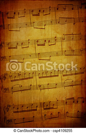 Abstract grungy music theme - csp4109255