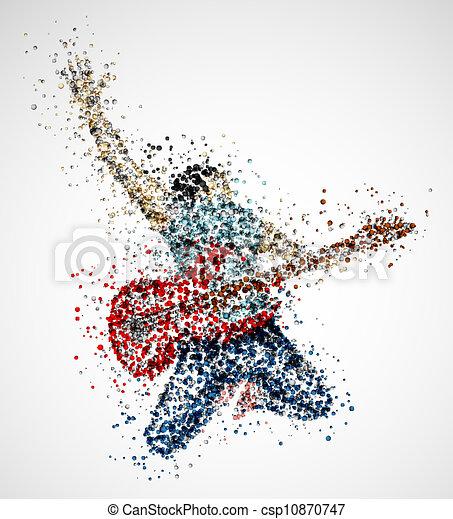 Abstract guitarist - csp10870747