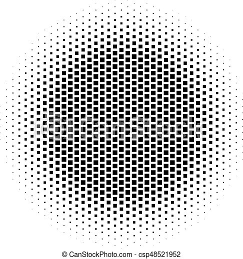 Abstract halftone gradient background circle of squares in hexagoal  arrangement  Simple stylish modern design vector element in black and white