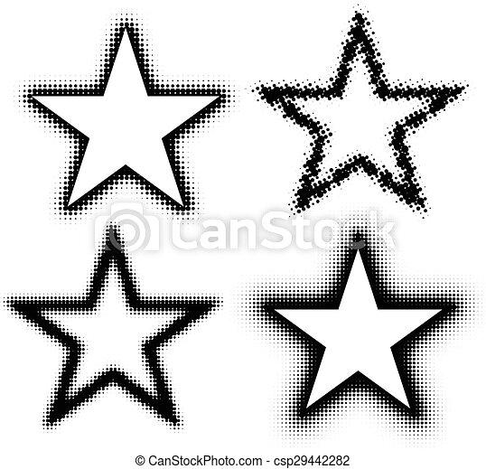 Abstract Halftone stars - csp29442282