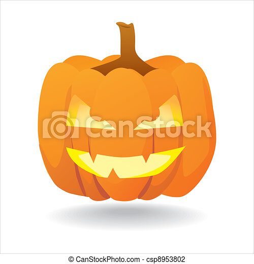 abstract halloween smiling pumpkin illustration