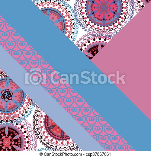 Abstract Hand Drawn Geometric Pattern