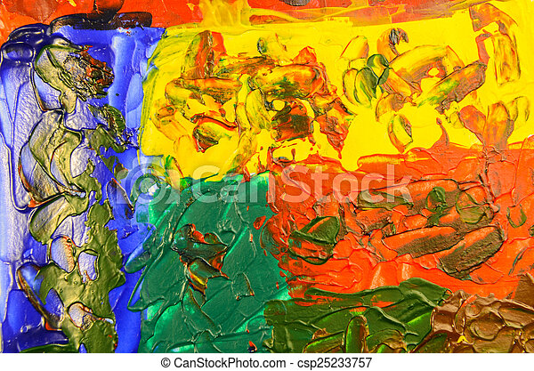 Abstract hand painted acrylic color background - csp25233757